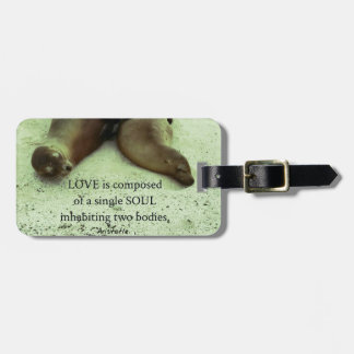 Love soulmates Aristotle quote Bag Tag