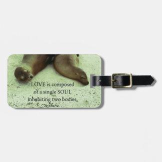 Love soulmates Aristotle quote Luggage Tag