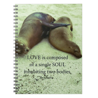 Love soulmates Aristotle quote Notebooks