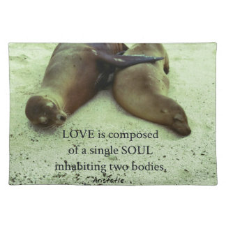 Love soulmates Aristotle quote Placemat