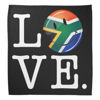 Love South Africa Smiling Flag Bandanas