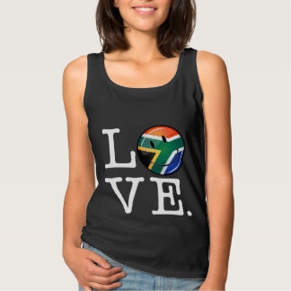 Love South Africa Smiling Flag Tank Top