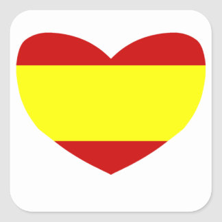 Love Spain Square Sticker