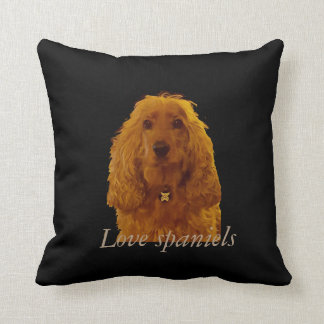 Love spaniels cushion