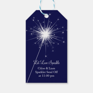 Love Sparkles Gift Tag - Blue Pack Of Gift Tags