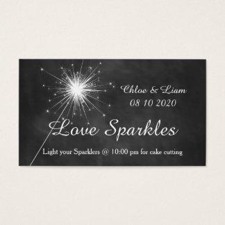 Love Sparkles - Sparkler Tag Business Card