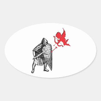 Love Spat Oval Sticker