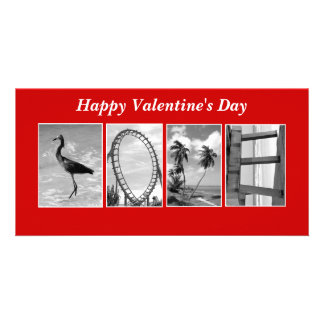 Love Spelled out in pictures Photo Greeting Card