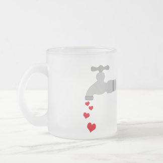 Love Spigot Frosted Glass Mug