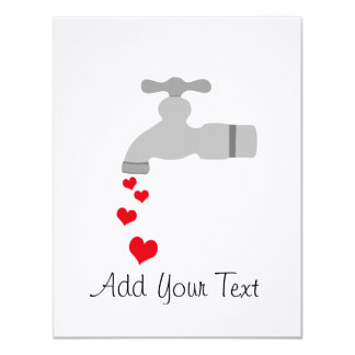 Love Spigot 4.25x5.5 Paper Invitation Card