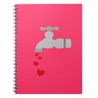 Love Spigot Spiral Notebook