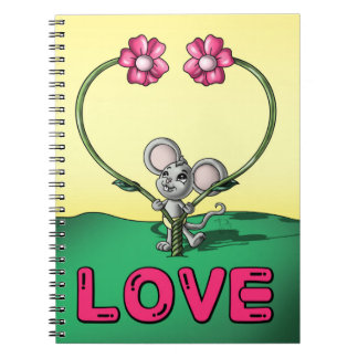 Love Spiral Photo Notebook (80 Pages B&W)