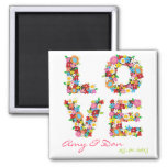 LOVE Spring Flowers Save The Date Magnet