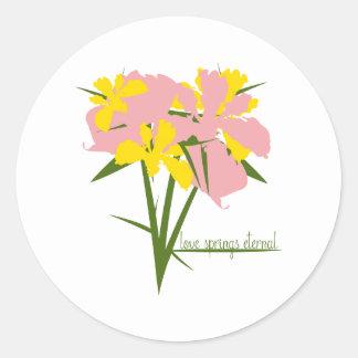 Love Springs Eternal Round Sticker