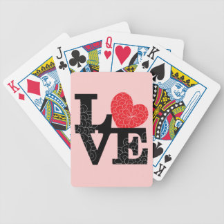 Love Squared Floral Imprint Bicycle Playing Cards