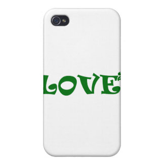 Love Squared in Green iPhone 4/4S Case