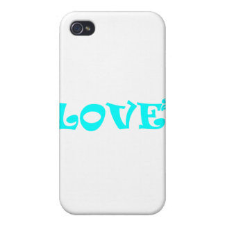 Love Squared in Light Blue iPhone 4 Cover