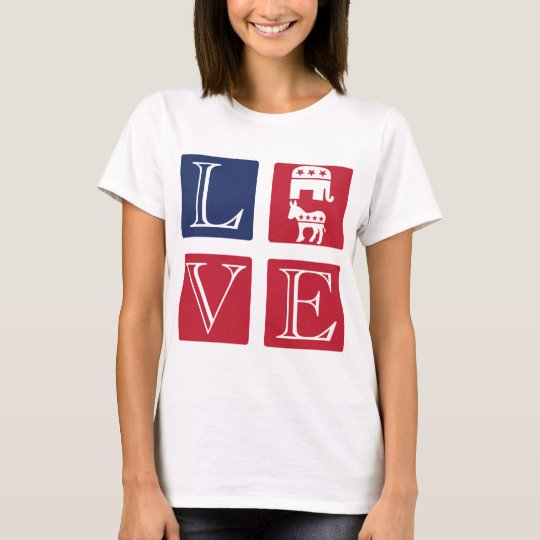 Love Squares: Love Any Party T-Shirt
