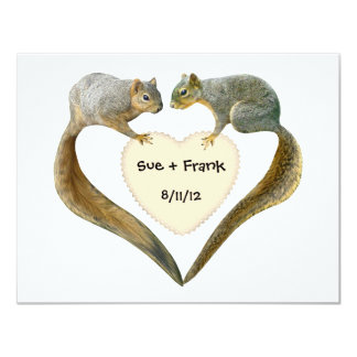 Love Squirrels Invitations