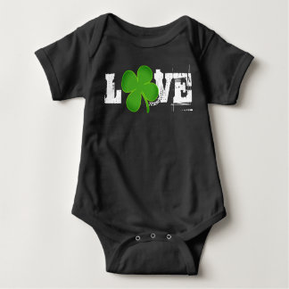 LOVE ST. PATRICK'S DAY BABY OUTFIT UNISEX CLOVER BABY BODYSUIT