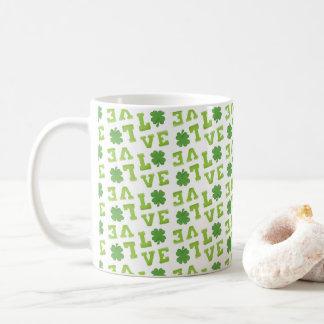 Love St Patrick's Day Clover Coffee Mug