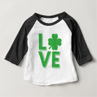 Love St. Patrick's Day Irish Shamrock Green Baby T-Shirt