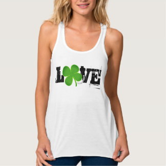 LOVE ST. PATRICK'S DAY RACER BACK SEXY TOP CLOVER