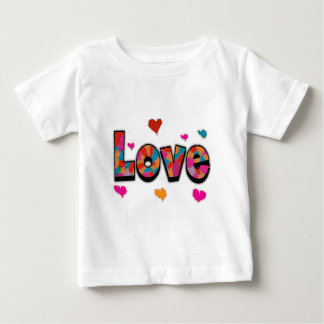 """""""LOVE"""" Stained Glass Look Gifts Baby T-Shirt"""