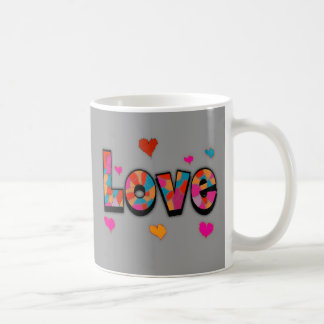 """""""LOVE"""" Stained Glass Look Gifts Basic White Mug"""