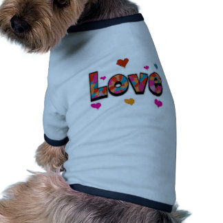 """""""LOVE"""" Stained Glass Look Gifts Doggie T-shirt"""