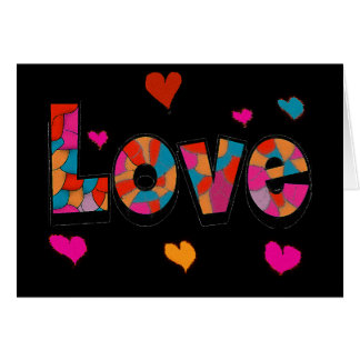 """""""LOVE"""" Stained Glass Look Gifts Greeting Card"""