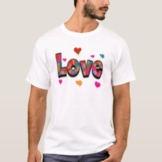 """""""LOVE"""" Stained Glass Look Gifts T-Shirt"""