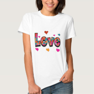 """""""LOVE"""" Stained Glass Look Gifts T Shirt"""