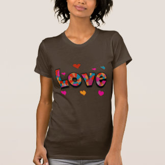 LOVE Stained Glass Look Gifts T Shirt