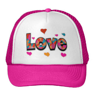 """""""LOVE"""" Stained Glass Look Gifts Trucker Hat"""