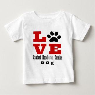 Love Standard Manchester Terrier Dog Designes Baby T-Shirt