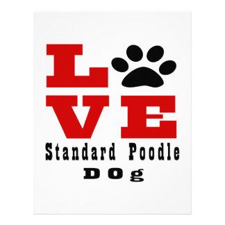 Love Standard Poodle Dog Designes Custom Letterhead