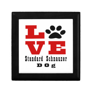 Love Standard Schnauzer Dog Designes Keepsake Boxes