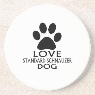 LOVE STANDARD SCHNAUZER DOG DESIGNS COASTER