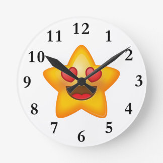 Love Star Emoji Clock