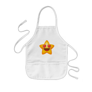 Love Star Emoji Kids Apron