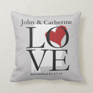 Love State of Alabama Pillow