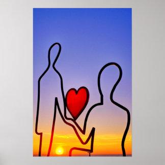 Love statue poster