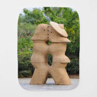 Love statues, Guilin, China Burp Cloth