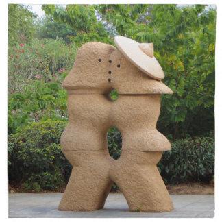 Love statues, Guilin, China Napkin