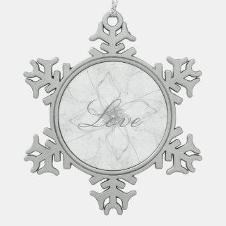 Love Stencil Design Ornament