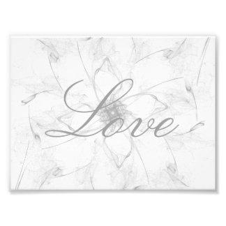 Love Stencil Photo Print