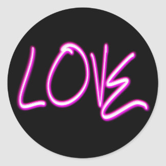 Love Round Stickers