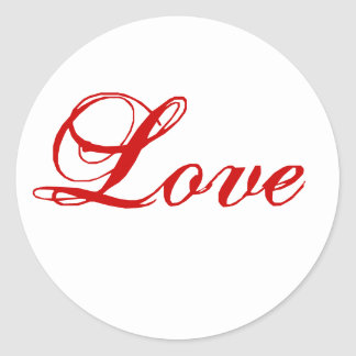 Love Sticker for Envelope Seal Red and white