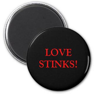 LOVE STINKS! 2 INCH ROUND MAGNET